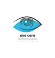 eye care logo design template vector image