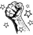 Fists illustration vector image