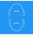 Human Tooth Thin Line on Blue vector image