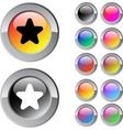 star multicolor round button vector image