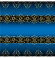 Blue Ornamental Background vector image vector image
