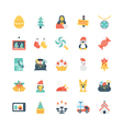 Christmas Colored Icons 3 vector image
