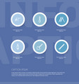 set of 6 editable equipment icons includes vector image