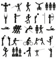 sports icon set in black vector image