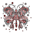 Butterfly red black white vector image