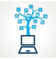 social media icon stock vector image