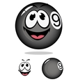 Billiard ball 9 in cartoon style vector image