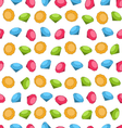 Seamless Wallpaper of Colorful Diamond vector image vector image