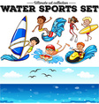 Different kind of water sports vector image