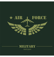 Military logo and badge Air force Graphic template vector image