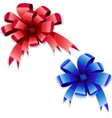red blue bows vector image vector image