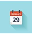 September 29  flat daily calendar icon vector image