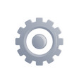 gear icon in flat style vector image