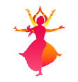 Indian female dance vector image