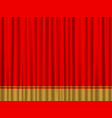 red gold curtain vector image