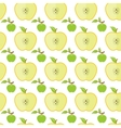 Seamless pattern with big and small green apples vector image