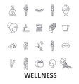 wellness health water well spa fitness vector image