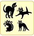Black cats - set Vinyl-ready EPS vector image vector image