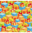 seamless pattern of boxes with gifts - holiday vector image