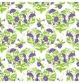 Seamless pattern - Convolvulus Flowers hearts on vector image