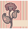 Floral design in soft pink colors for invitation vector image vector image