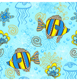 marine blue seamless vector image vector image