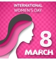 Happy Womens Day greeting or gift card vector image