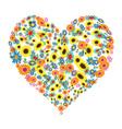 floral heart shape design vector image vector image