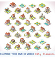 Game Set 03 Building Isometric vector image