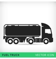 Fuel truck flat icon vector image