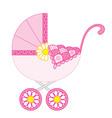 Baby Girl Stroller vector image