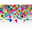 colorful splinters vector image