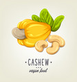 colourful cashew icon isolated on background vector image