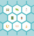 Flat icons prayer carpet ramadan kareem holy vector image