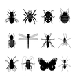 Insects icons vector image