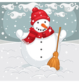 Of A Snowman vector image