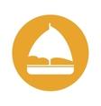 sailboat emblem icon image vector image