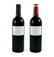 Set realistic bottle of red wine vector image