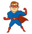 superhero man cartoon character vector image
