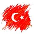 Turkish National Flag vector image
