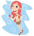 young businesswoman with wine vector image