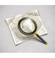 loupe magnifying glass tool vector image