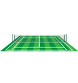 tennis court with net vector image