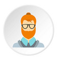 hipster icon circle vector image