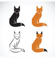 group of fox design on white background fox icon vector image vector image