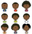 African American boys avatar vector image