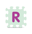 letter R written with alphabet puzzle vector image