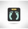 Digital scales with feet prints on it in modern vector image
