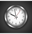 Clock on dark vector image