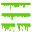 New green slime set vector image